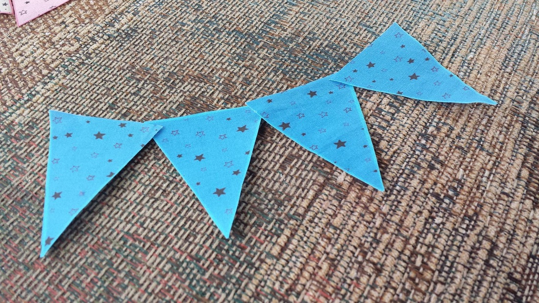 Pennant Triangles / Fabric / DIY Buntings / Bohemian Bear