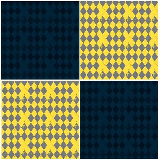 blue yellow harlequin fabric by bohemian bear