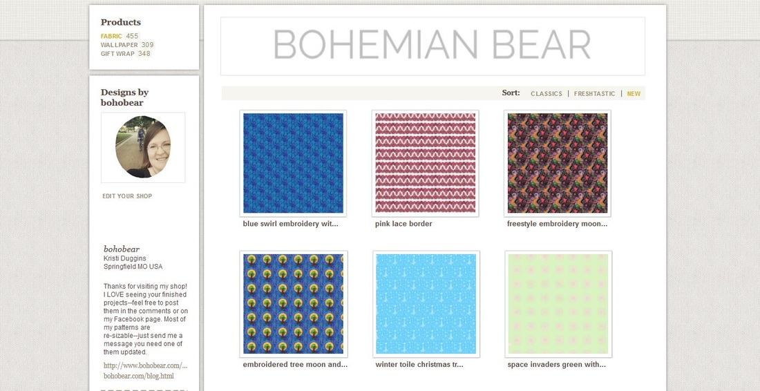 Bohemian Bear on Spoonflower